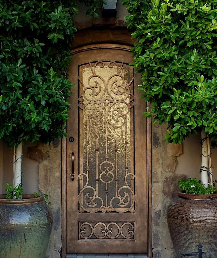 Custom Gates Wrought Iron Steel Copper Scottsdale Phoenix Az