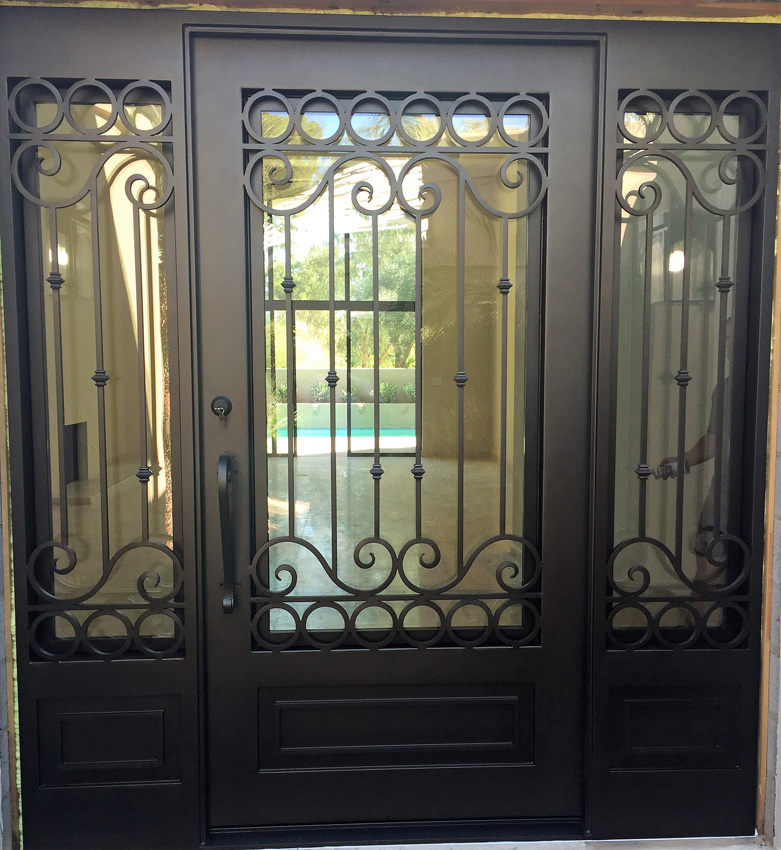Entry Doors With Sidelights Single