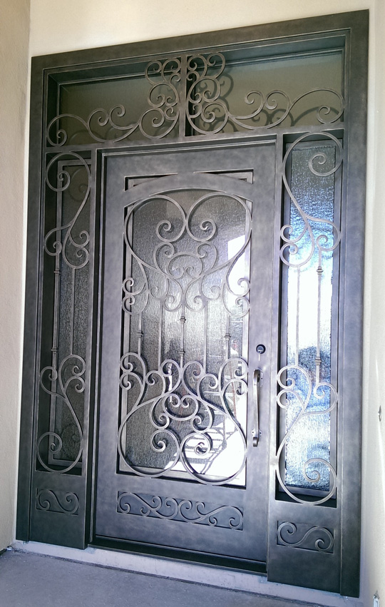 Decorative Entry Doors With Sidelights  from victorymetalworks.com